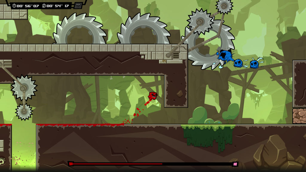 A screenshot of Super Meat Boy Forever