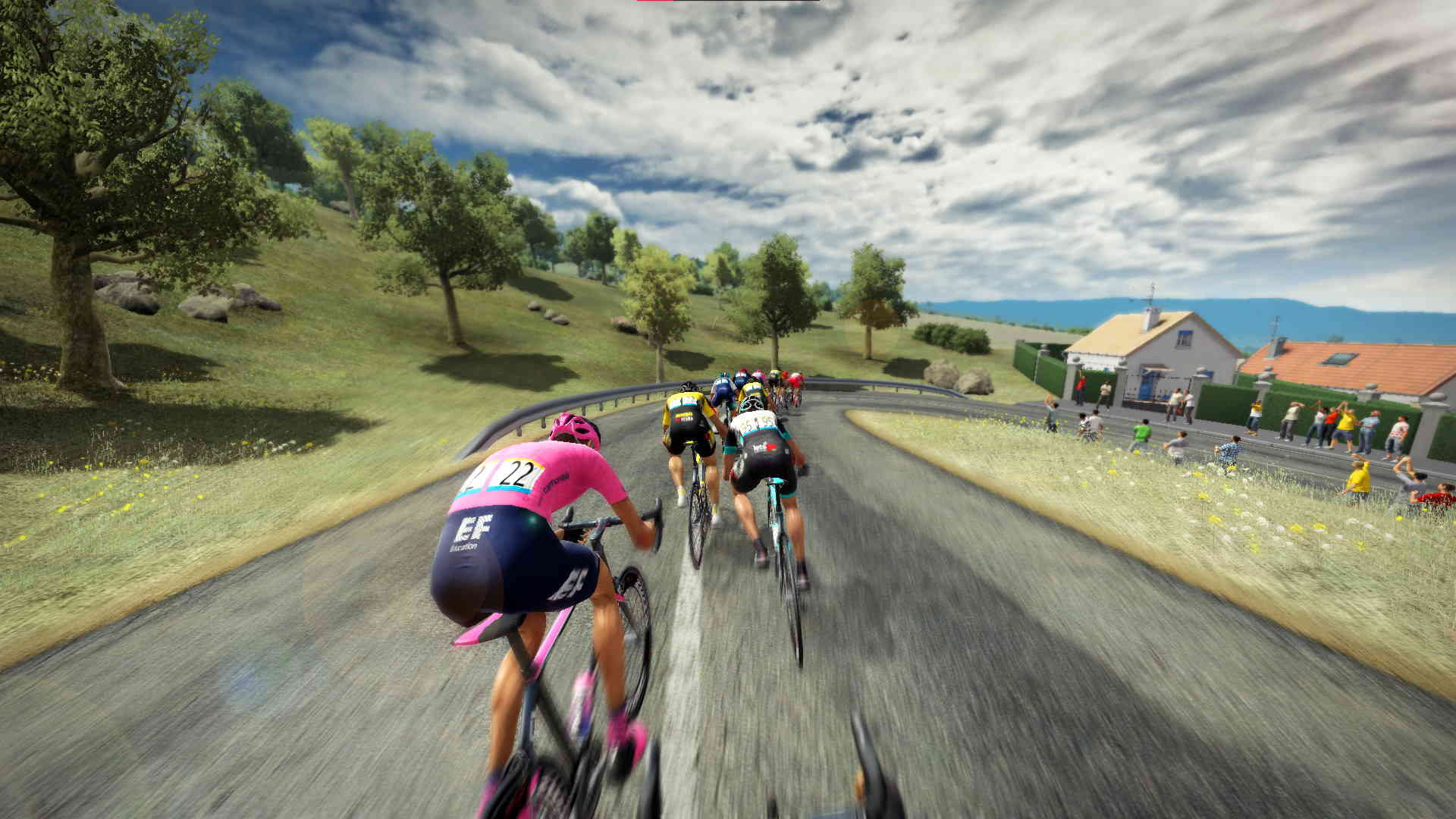 A screenshot from Tour de France 2021