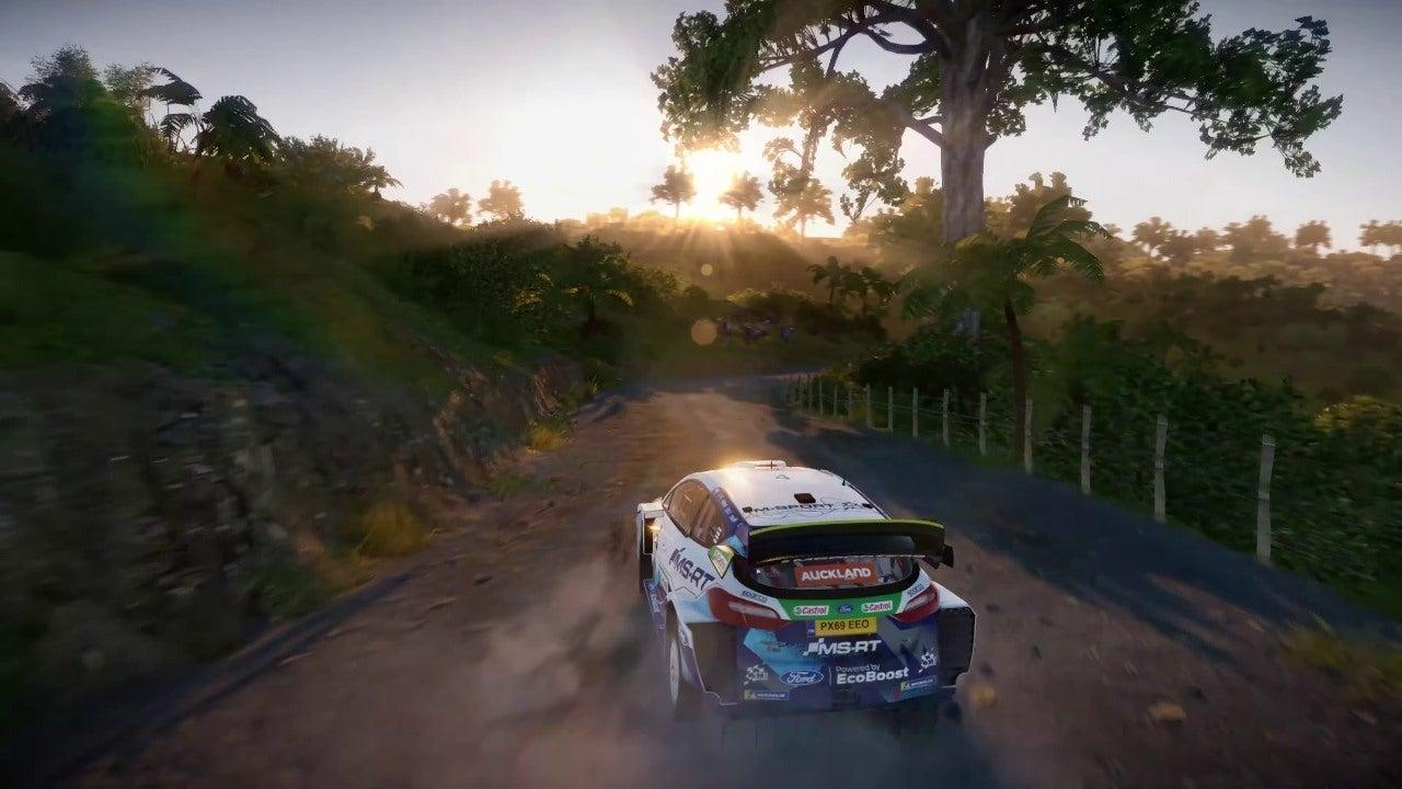 WRC on PS5 racing