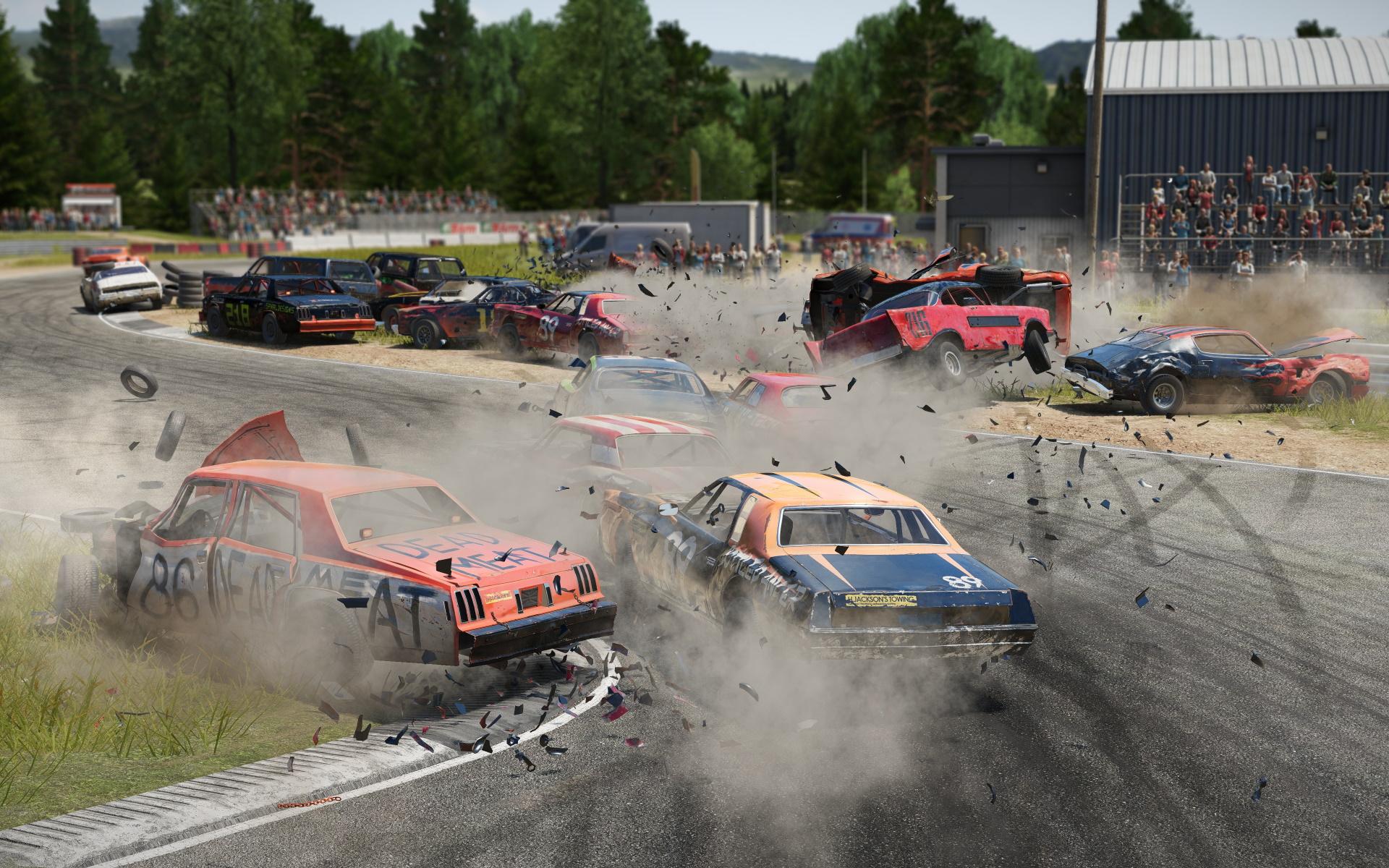 A screenshot of Wreckfest on PS4