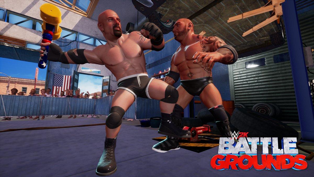 WWE 2K Battlegrounds Goldberg and Batista