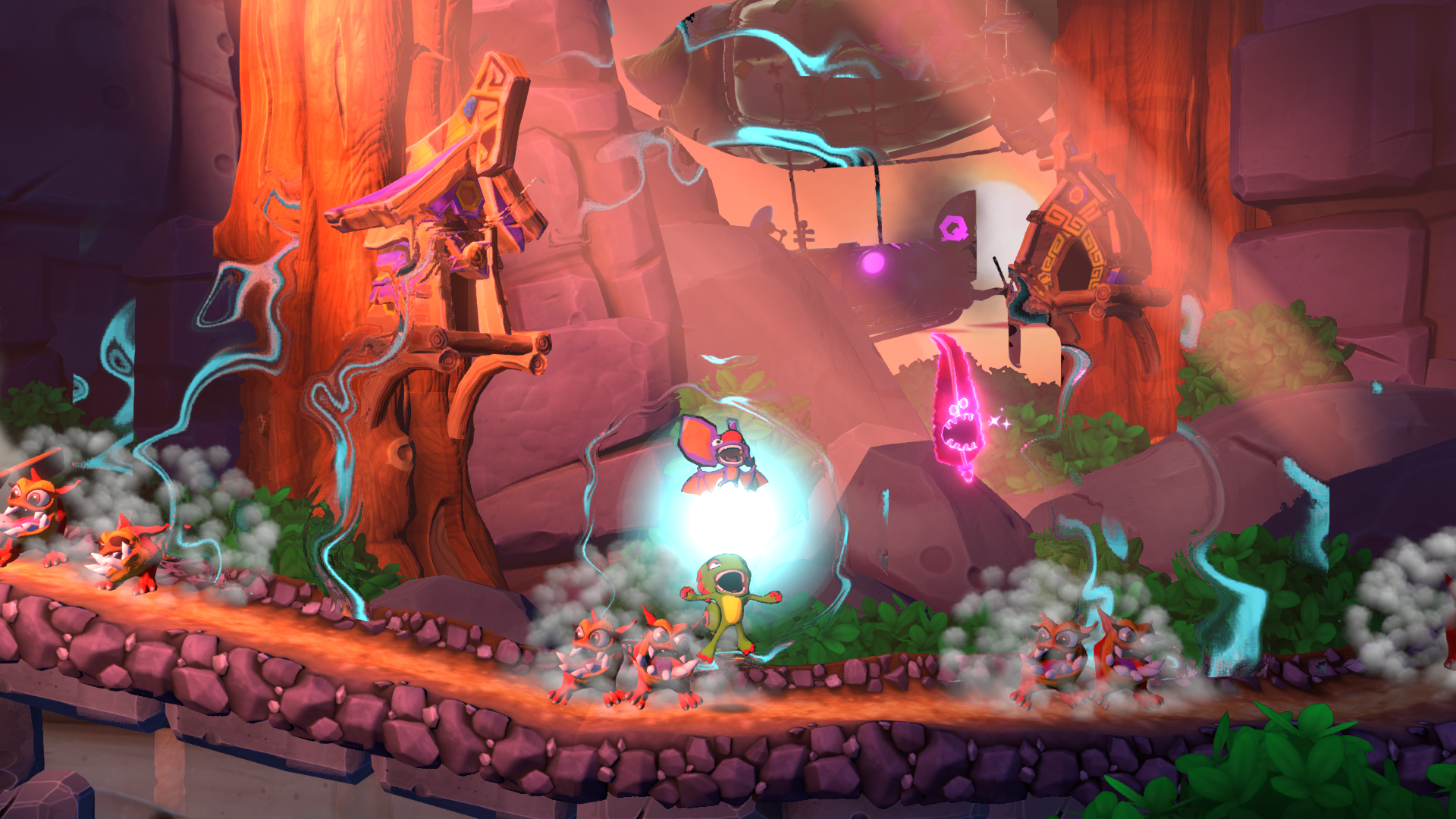 Yooka Laylee and the Impossible Lair is a delight to look at.